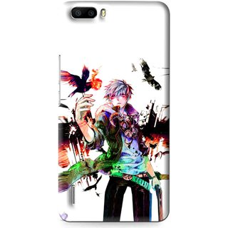 Snooky Printed Angry Man Mobile Back Cover For Huawei Honor 6 Plus - Multi