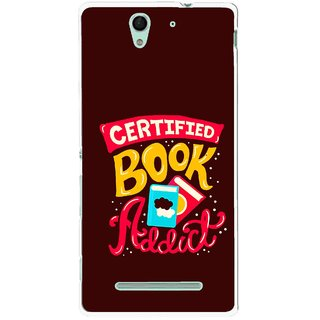 Snooky Printed Reads Books Mobile Back Cover For Sony Xperia C3 - Multicolour