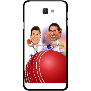 Snooky Printed Play Cricket Mobile Back Cover For Samsung Galaxy J7 Prime - Multicolour