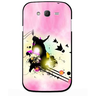 Snooky Printed Flying Man Mobile Back Cover For Samsung Galaxy Grand I9082 - Multicolour