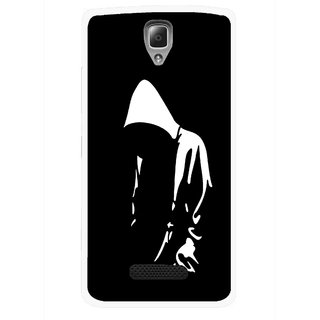 Snooky Printed Thinking Man Mobile Back Cover For Lenovo A2010 - Multicolour