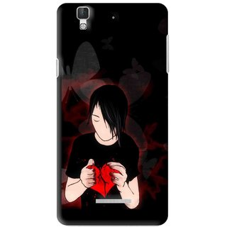 Snooky Printed Broken Heart Mobile Back Cover For Micromax YU YUREKA - Multi