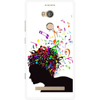 Snooky Printed Music Lover Mobile Back Cover For Gionee Elife E8 - Multicolour