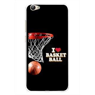 Snooky Printed Love Basket Ball Mobile Back Cover For Vivo Y66 - Multi