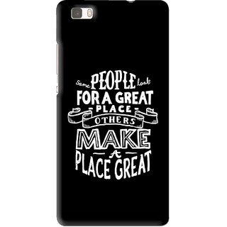 Snooky Printed Personality Attitude Mobile Back Cover For Huawei Ascend P8 Lite - Multi