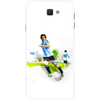 Snooky Printed Football Mania Mobile Back Cover For Samsung Galaxy J7 Prime - Multicolour