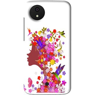 Snooky Printed Girl Beauty Mobile Back Cover For Micromax Canvas Android One - Multi