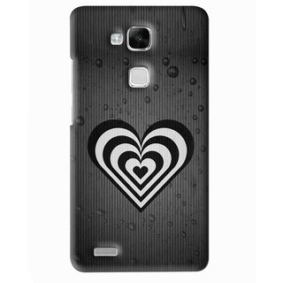 Snooky Printed Hypro Heart Mobile Back Cover For Huawei Ascend Mate 7 - Multi