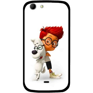 Snooky Printed My Friend Mobile Back Cover For Micromax Canvas 4 A210 - Multicolour