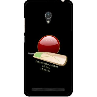 Snooky Printed Cricket Lover Mobile Back Cover For Asus Zenfone 5 - Multicolour