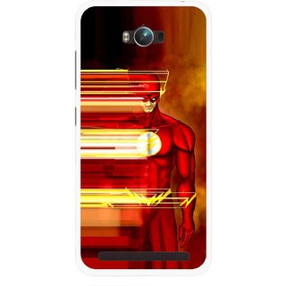 Snooky Printed Electric Man Mobile Back Cover For Asus Zenfone Max - Multicolour