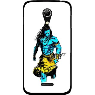 Snooky Printed Bhole Nath Mobile Back Cover For Micromax A114 - Multicolour