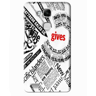 Snooky Printed Newspaper Mobile Back Cover For Huawei Ascend Mate 7 - Multi