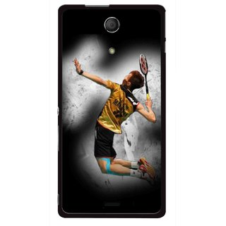 Snooky Printed Badminton Mania Mobile Back Cover For Sony Xperia ZR - Multicolour