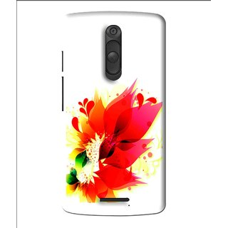 Snooky Printed Flowery Red Mobile Back Cover For Moto X3 - Multi