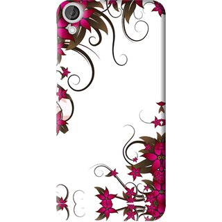 Snooky Printed Flower Creep Mobile Back Cover For HTC Desire 820 - Multi