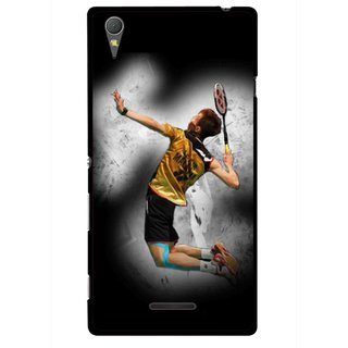 Snooky Printed Badminton Mania Mobile Back Cover For Sony Xperia T3 - Multicolour