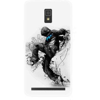 Snooky Printed Enjoying Life Mobile Back Cover For Lenovo A6600 - Multicolour