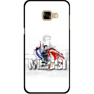 Snooky Printed Messi Mobile Back Cover For Samsung Galaxy C7 - Multicolour