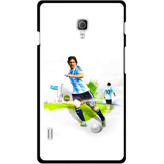 Snooky Printed Football Mania Mobile Back Cover For Lg Optimus L7 II P715 - Multicolour