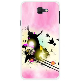 Snooky Printed Flying Man Mobile Back Cover For Samsung Galaxy J5 Prime - Multicolour