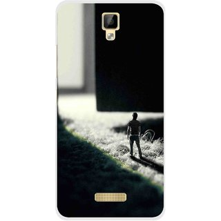 Snooky Printed God Door Mobile Back Cover For Gionee P7 - Multicolour