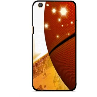 Snooky Printed Basketball Club Mobile Back Cover For Oppo F3 - Multi