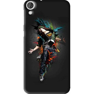 Snooky Printed Music Mania Mobile Back Cover For HTC Desire 820 - Multi