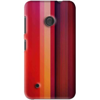 Snooky Printed Colorfull Stripes Mobile Back Cover For Nokia Lumia 530 - Multi