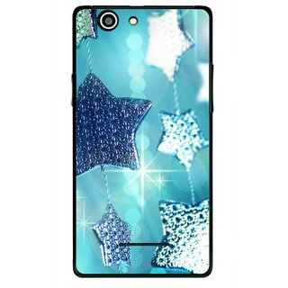 Snooky Printed Sparkling Stars Mobile Back Cover For Xolo A500s - Multi
