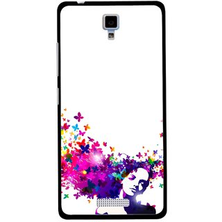 Snooky Printed Flowery Girl Mobile Back Cover For Gionee Pioneer P4 - Multicolour