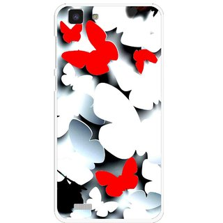 Snooky Printed Butterfly Mobile Back Cover For Vivo Y27L - Multi
