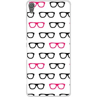 Snooky Printed Spectacles Mobile Back Cover For Sony Xperia XA1 - Multi