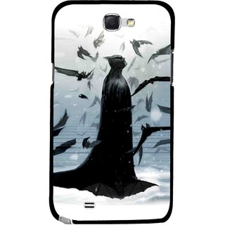 Snooky Printed Black Bats Mobile Back Cover For Samsung Galaxy Note 2 - Multicolour