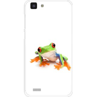 Snooky Printed Frog Mobile Back Cover For Vivo Y27L - Multi