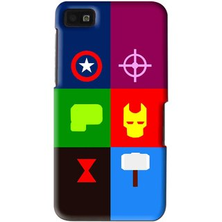 Snooky Printed Multi Heros Mobile Back Cover For Blackberry Z10 - Multi