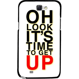 Snooky Printed Get Up Mobile Back Cover For Samsung Galaxy Note 2 - Multicolour