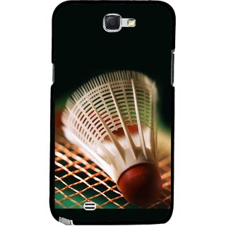 Snooky Printed Badminton Mobile Back Cover For Samsung Galaxy Note 2 - Multicolour