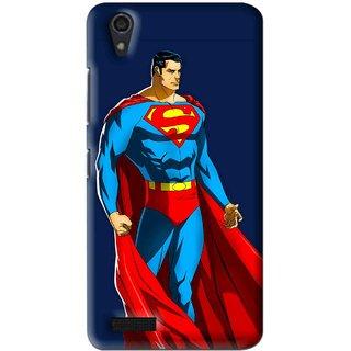 Snooky Printed Super Hero Mobile Back Cover For Lenovo A3900 - Multi