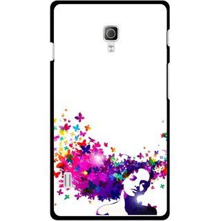 Snooky Printed Flowery Girl Mobile Back Cover For Lg Optimus L7 II P715 - Multicolour