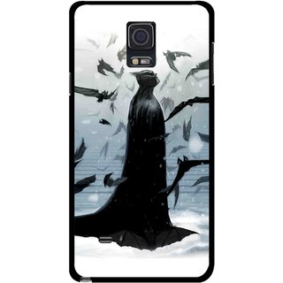 Snooky Printed Black Bats Mobile Back Cover For Samsung Galaxy Note 4 - Multicolour