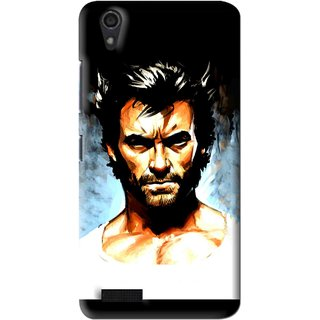 Snooky Printed Angry Man Mobile Back Cover For Lenovo A3900 - Multi