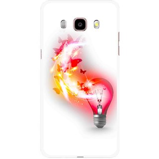 Snooky Printed Butterly Bulb Mobile Back Cover For Samsung Galaxy J5 (2016) - Multicolour