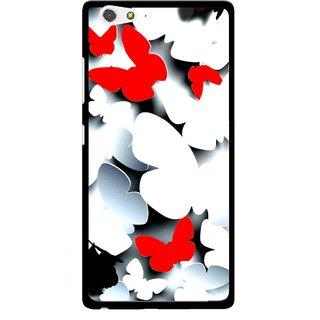 Snooky Printed Butterfly Mobile Back Cover For Gionee Elife S6 - Multi