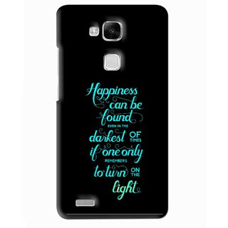 Snooky Printed Everywhere Happiness Mobile Back Cover For Huawei Ascend Mate 7 - Multi