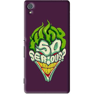 Snooky Printed Serious Mobile Back Cover For Sony Xperia Z4 - Multi