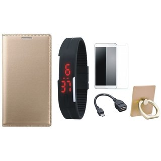 Redmi Y1 Lite Cover with Ring Stand Holder, Free Digital LED Watch, Tempered Glass and OTG Cable