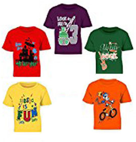 Pari & Prince Round Neck T-Shirts Pack of 5 (Assorted Color)