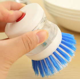 Practical Soap Dispenser Scrubber Dish Wash Scrub Refill Washing Pan Brush Hot