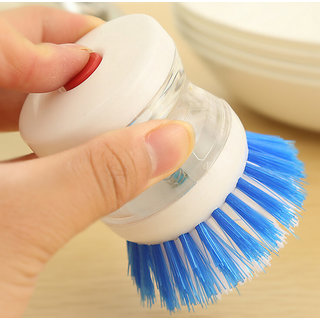 Practical Soap Dispenser Scrubber Dish Wash Scrub Refill Washing Pan Brush Hot